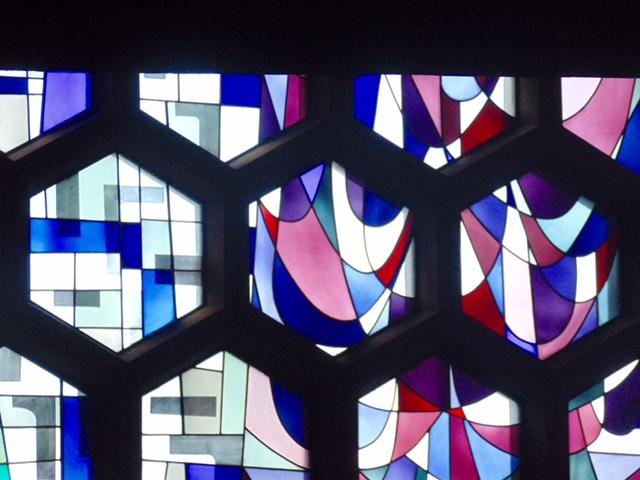 Saint Johns Abbey Churchs stained glass windows