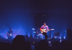 Hippo Campus performing at Duluth's Clyde Iron Works