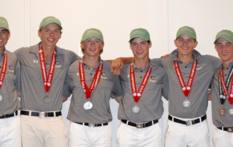 The golf team after their second place finish in the 2016 State Tournament.