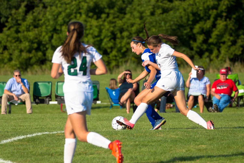 Girls soccer edged in high-scoring game against AHA