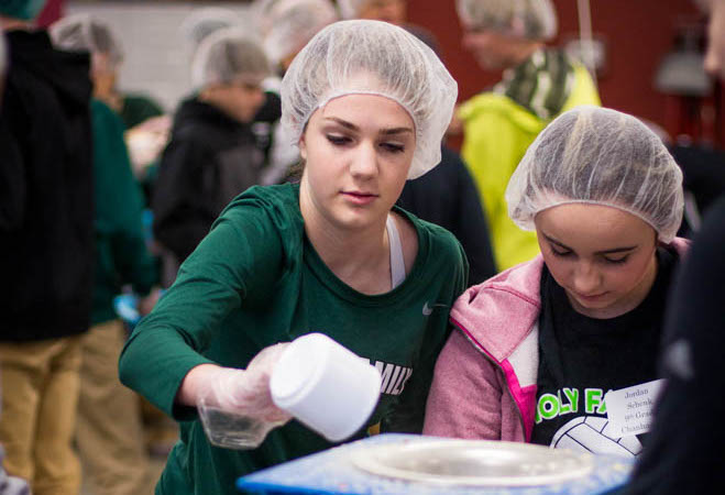 Annual service day sends students out into the community