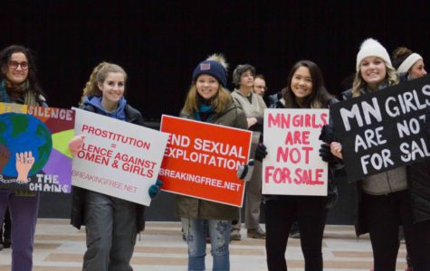 Students march to raise awareness of human trafficking