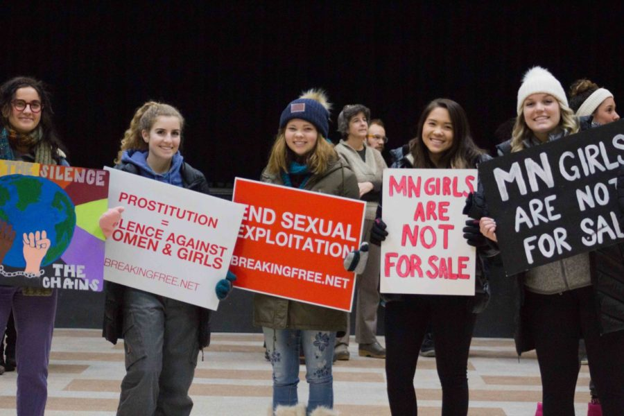 Students+march+to+raise+awareness+of+human+trafficking