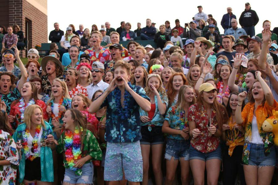 Fan section shows school spirit