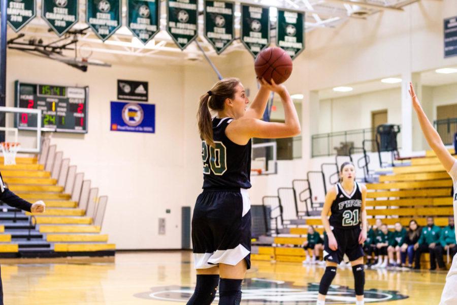 Holy Family Varsity Girls Basketball vs Rockford: Leigh Steiner '19 (20)