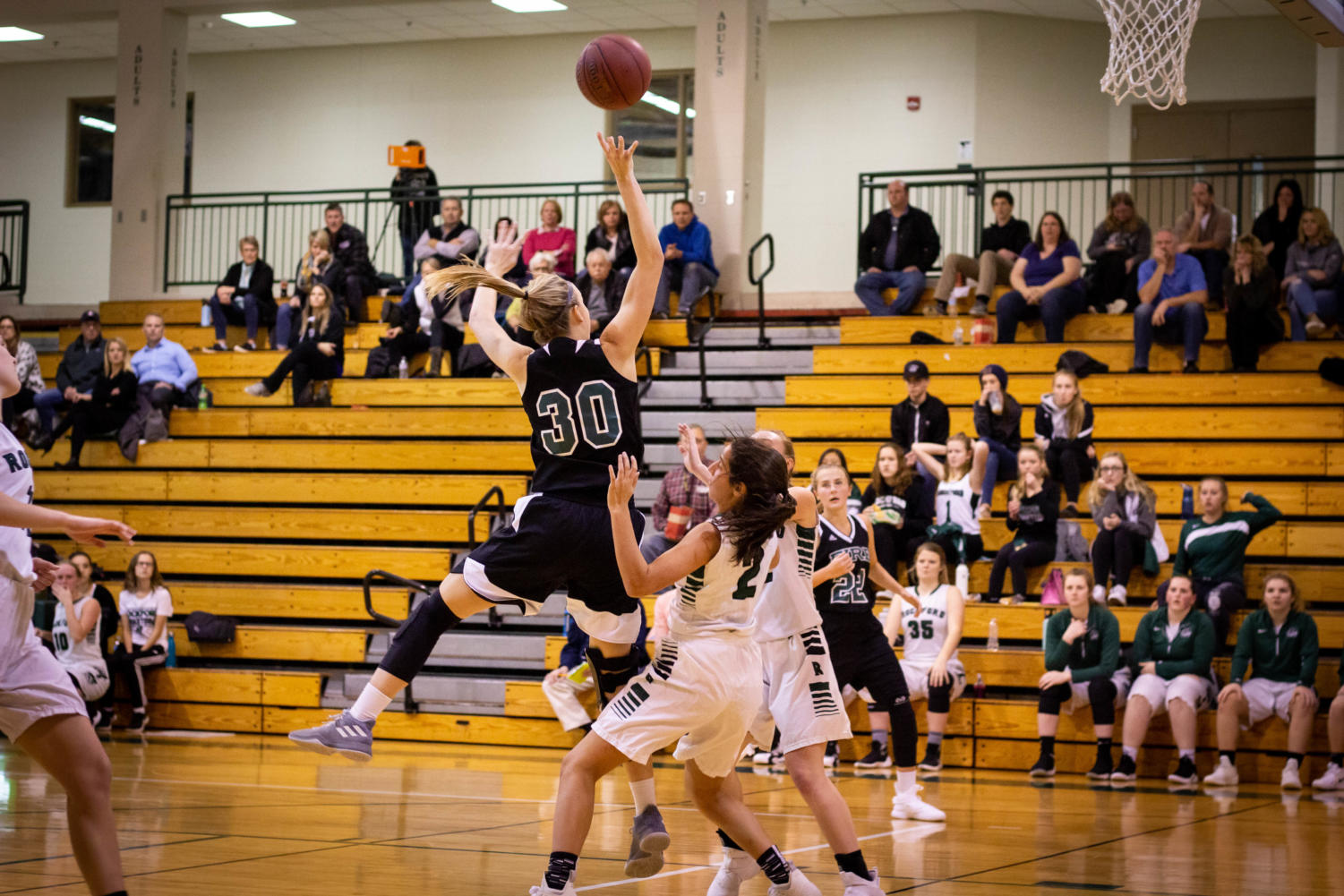 Holy Family Varsity Girls Basketball vs Rockford: Grace Conroy '19 (30)