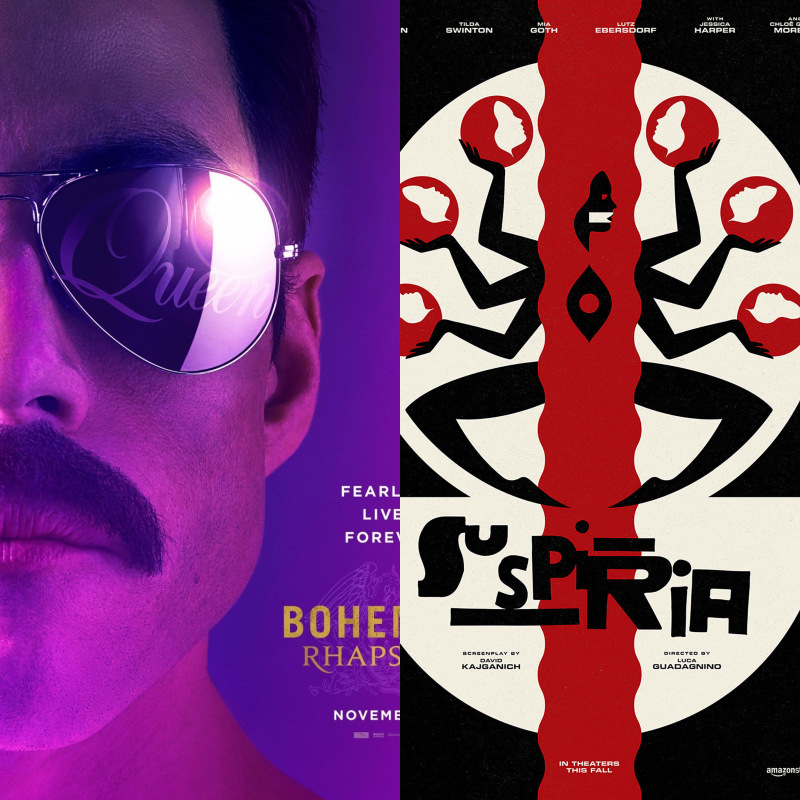 Movie Review: 'Bohemian Rhapsody' Isn't a Champion. 'Suspiria' Remake Surprises