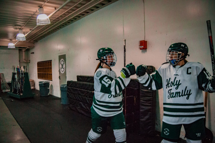 Holy+Family+Girls+Varsity+Hockey+vs.+Orono++Dec+18%2C+2018%3A+Captain+Lauren+Hickey+%2720+%2815%29+%26amp%3B+Captain+Caitlin+Rock+%2720+%2812%29