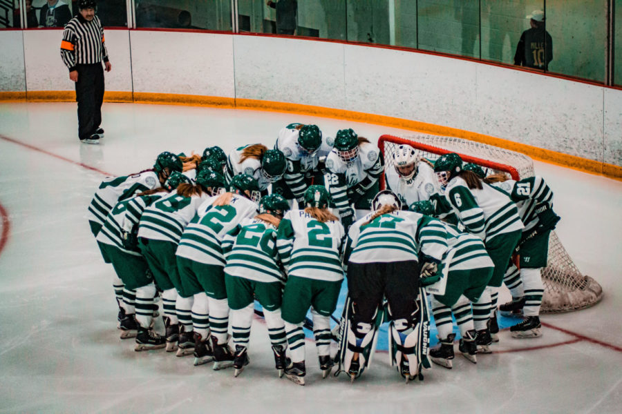 Holy Family Girls Varsity Hockey vs. Orono  Dec 18, 2018: Holy Family Girls Varsity Hockey Team
