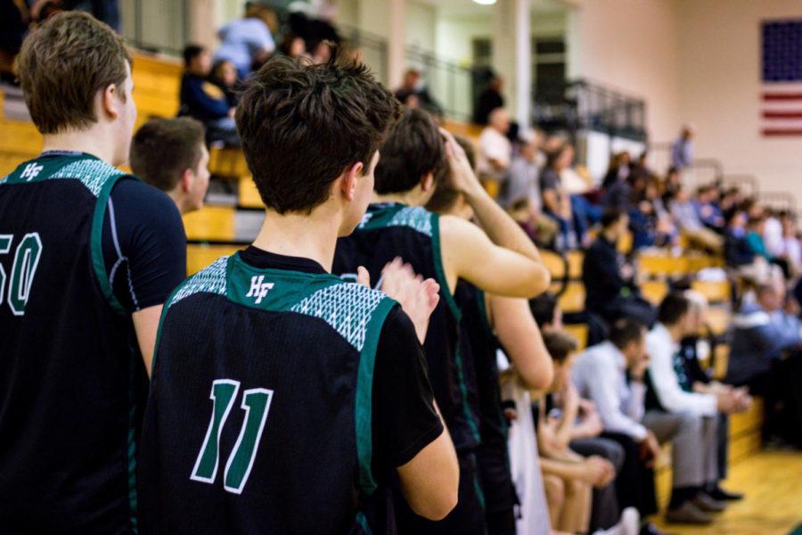Holy Family Boys Varsity Basketball vs Howard Lake-Waverly-Winsted: Sam McNulty '20 (11)