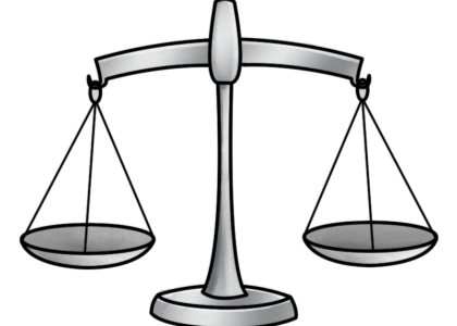 A scale depicting balance
