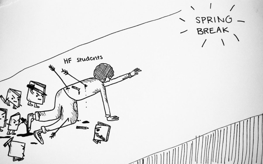 Spring Break Cartoon