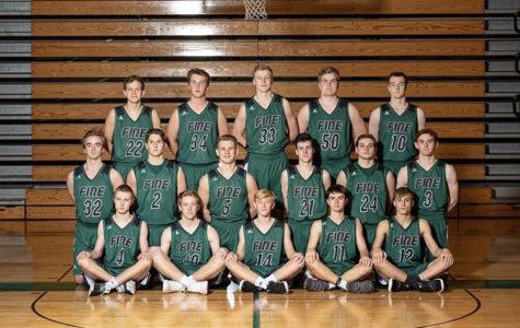 The 2018-2019 Holy Family boys basketball varsity team