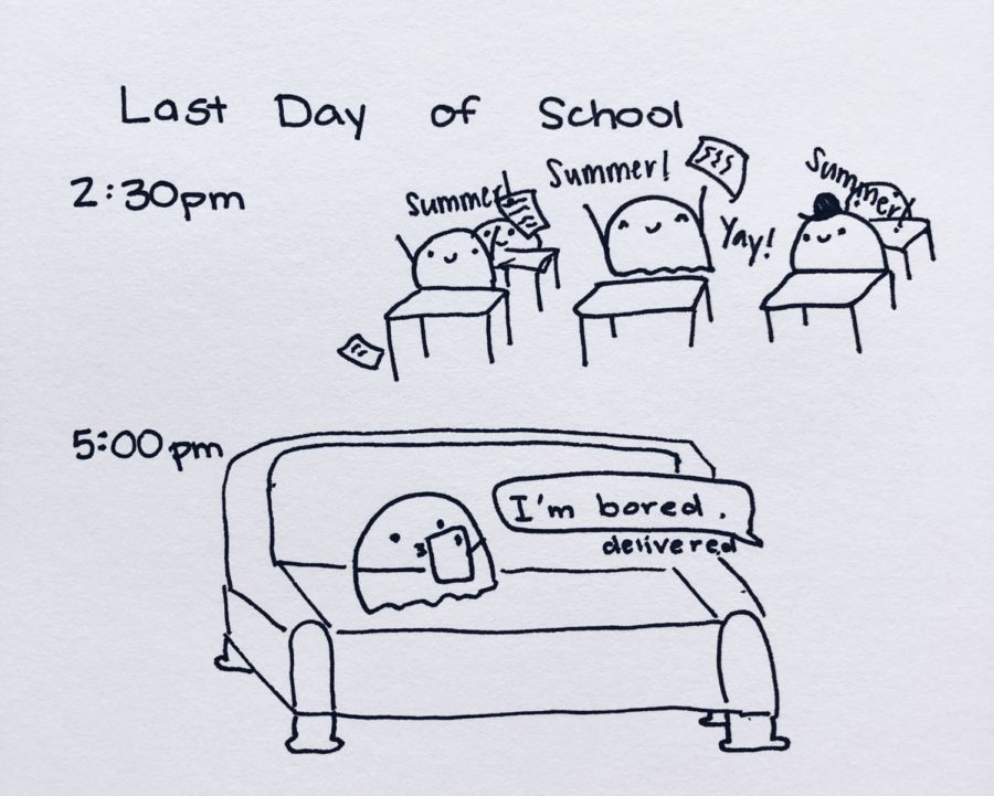 Last Day of School Ghost Comic