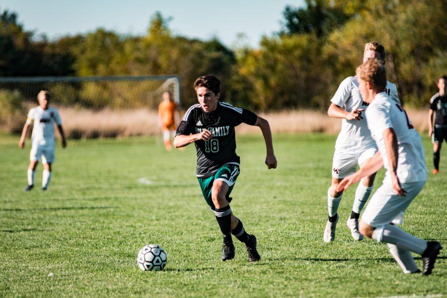 Holy Family Boys Varsity Soccer vs Monticello: Eric Oconitrillo (18) '23