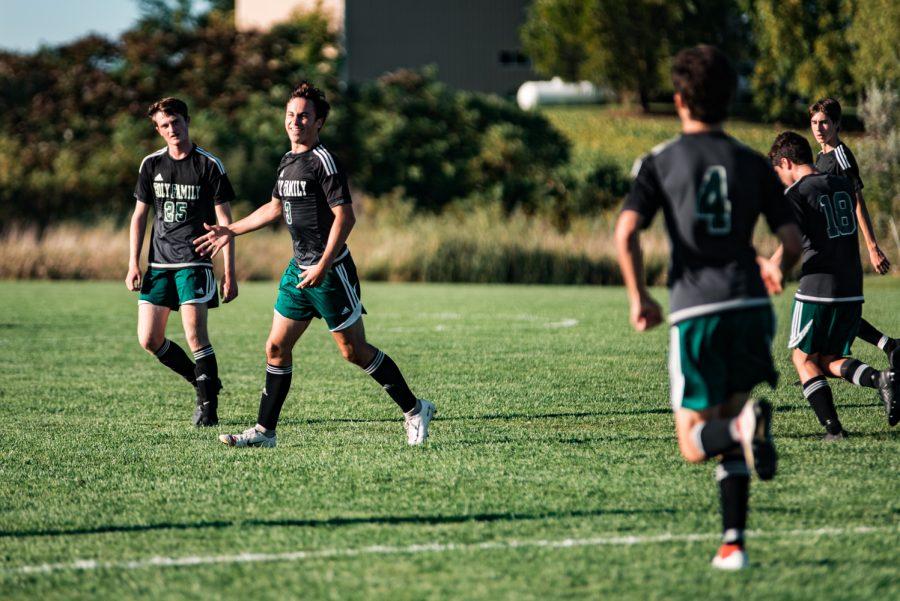 Holy Family Boys Varsity Soccer vs Monticello: Casey Gess (3) '20