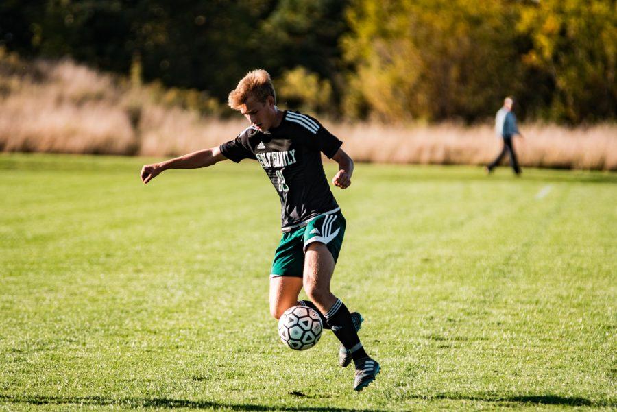 Holy Family Boys Varsity Soccer vs Monticello: Bishop schugel (11) '21