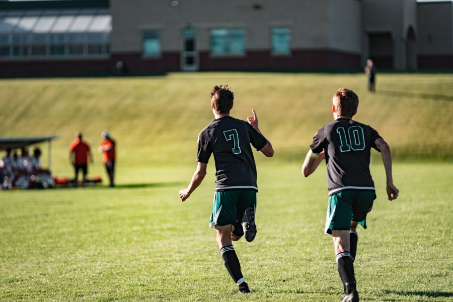 Holy Family Boys Varsity Soccer vs Monticello: Finn Dowling (7) '21 Bennett Creager (10) '20