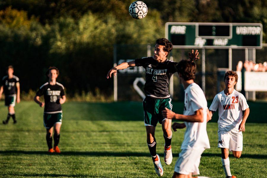 Holy Family Boys Varsity Soccer vs Monticello: Charlie Ficek (4) '22