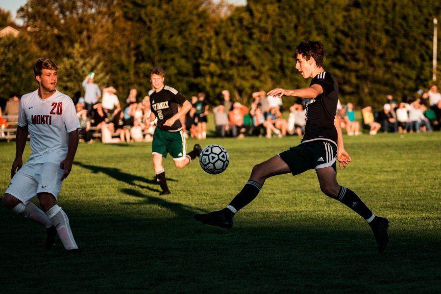 Holy Family Boys Varsity Soccer vs Monticello: Finn Dowling (7) '21
