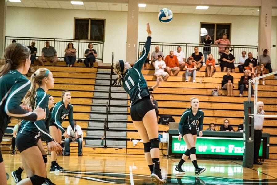 Girls Varsity Volleyball vs Belle Plaine: Tatum Hussey (11) '22