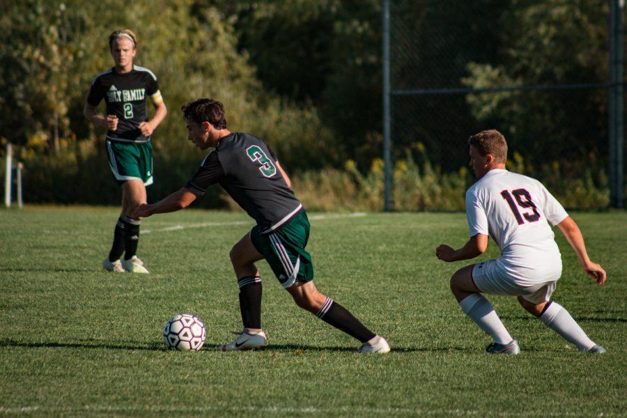 Holy Family Boys Varsity Soccer vs Fargo Shanley 8/6/19: Casey Gess (3) '20