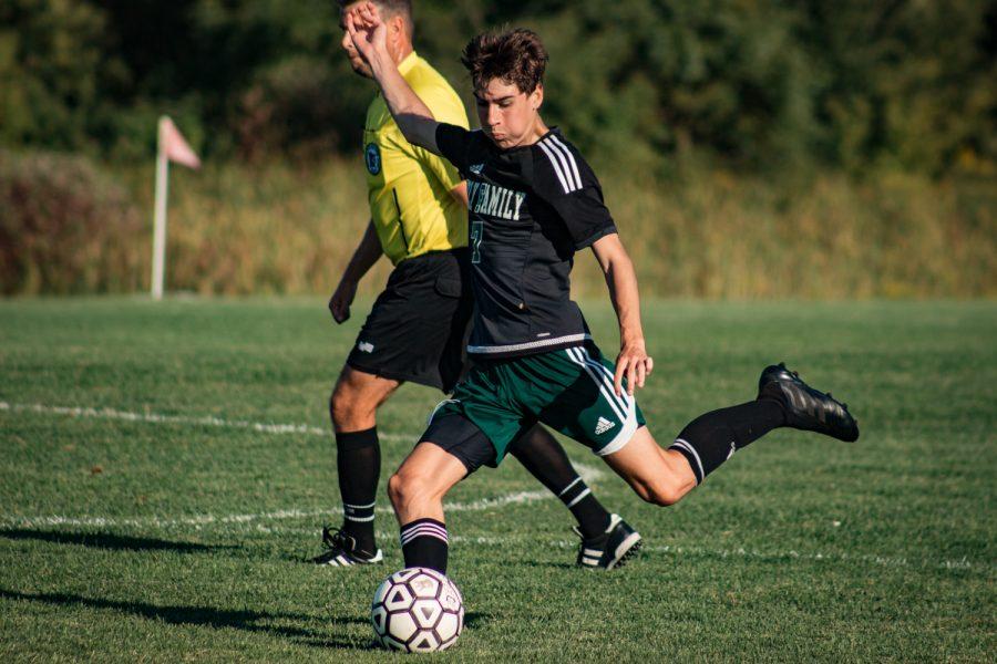 Holy Family Boys Varsity Soccer vs Fargo Shanley 8/6/19: Finn Dowling (7) '21