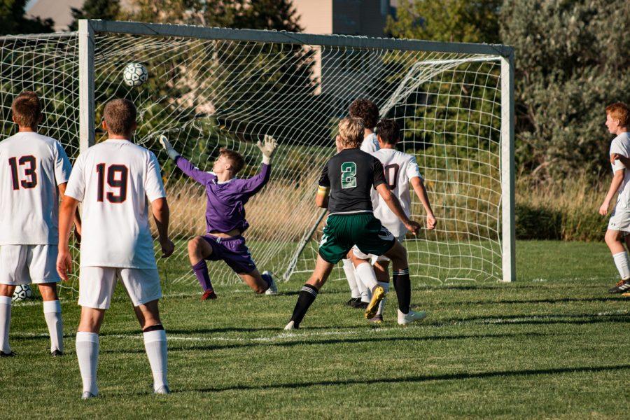 Holy Family Boys Varsity Soccer vs Fargo Shanley 8/6/19: Senior Captain Thomas Aragon Menzel (2) '20