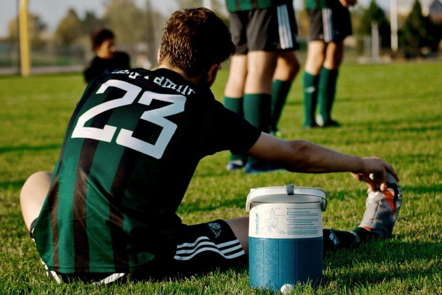 Holy Family's Jordan Van Eyll '21 (23) during a matchup against Waconia High School -Arden Schlegel-The Phoenix