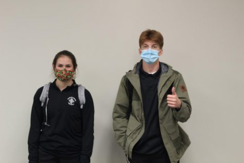 Transfer Students Courtney French (10) and Akos Konkoly (10).
