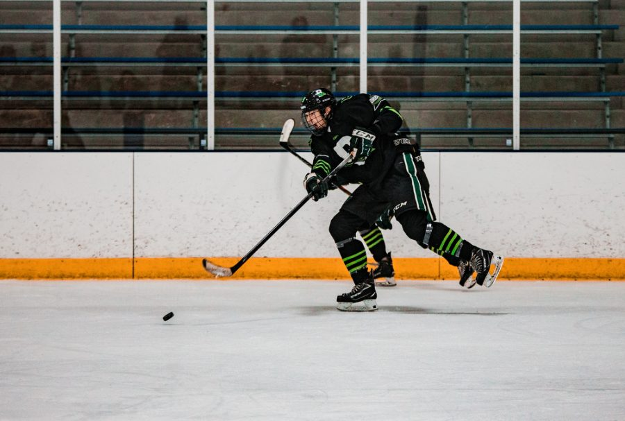 Back Channel Bruisers' Grant Limke '21 (9) during a hockey game where The Bruisers' fell to Maple Grove 4-2 on Saturday, November 14, 2020 at St. Louis Park Recreation Center. Collin Nawrocki / The Phoenix