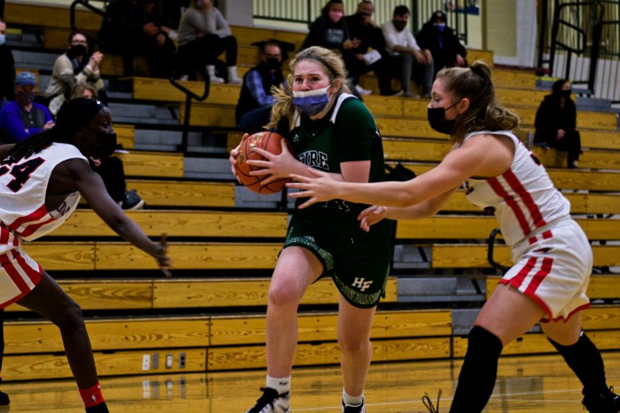 Holy Family's Sophie Zay (24) '24 during a game against Annandale High School. Arden Schlegel-The Phoenix