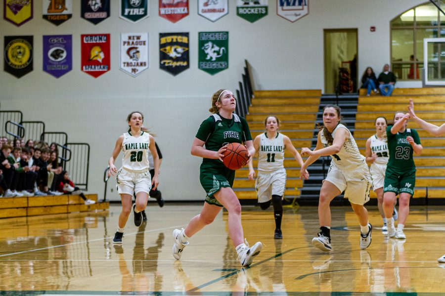 Holy Family's Sophia Zay '24 (24) vs. Maple Lake at Section 5AA Round of 16 - Collin Nawrocki/The Phoenix