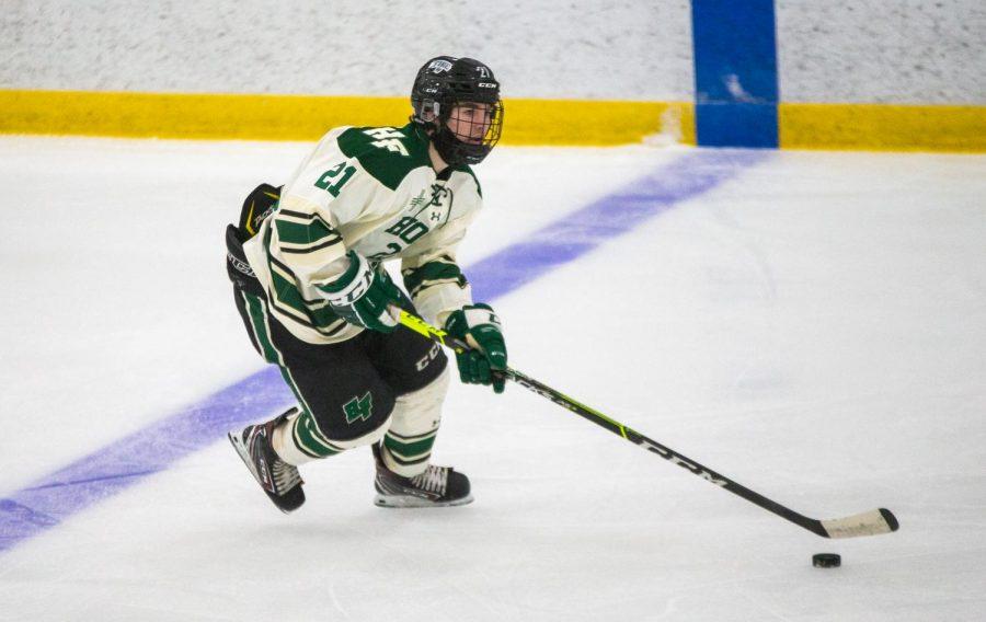 The varsity boys hockey team defeated Chaska 5-1 on March 18th.