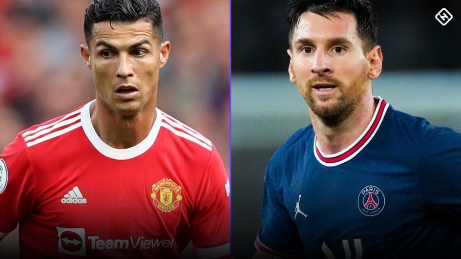 left Cristiano Ronaldo and right Lionel Messi